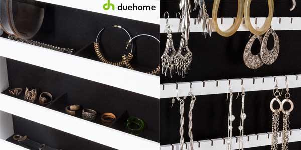 Espejo joyero Duehome organizador joyas lacado blanco barato en eBay