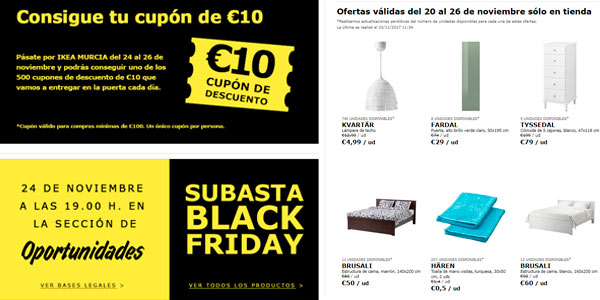ikea black friday ofertas diferentes en cada tienda. Black Bedroom Furniture Sets. Home Design Ideas