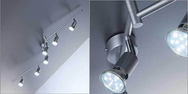 Chollo Lámpara de techo articulada B.K. Licht con 6 focos LED ...