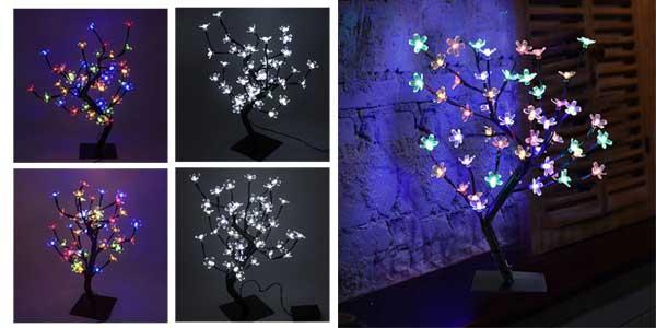 Lámpara de mesa LED con diseño de árbol con ramas flexibles ideal para Navidad chollo en Amazon