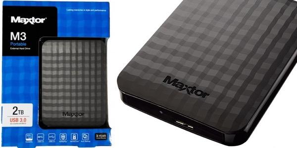 Disco duro portátil Maxtor M3 2 TB barato