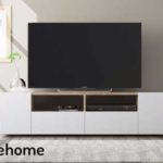 Mueble de salón y TV Duehome Tamiko blanco artik y roble canadian chollo en eBay