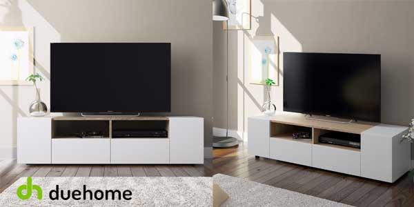 Mueble de salón y TV Duehome Tamiko blanco artik y roble canadian barato en eBay