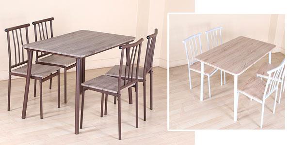 sÓlo hoy: chollazo juego de comedor mr ironstone de 5 piezas (mesa