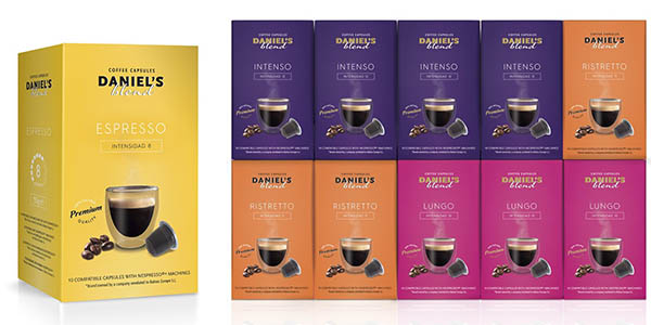 pack cajas cápsulas café Daniels Blend diferentes intensidades chollo