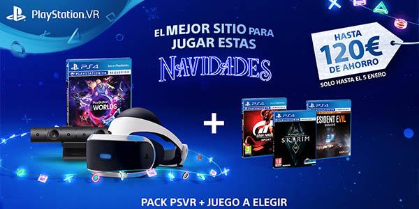 PS VR con PS Camera, VR Worlds y un juego a elegir