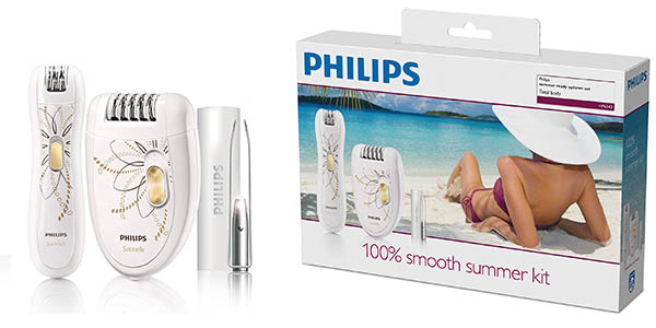 Philips HP654000 kit depiladora eléctrica de precisión con pinzas con luz chollo