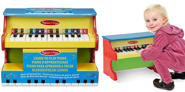 piano Melissa & Doug con teclas de colores y gran relación calidad-precio