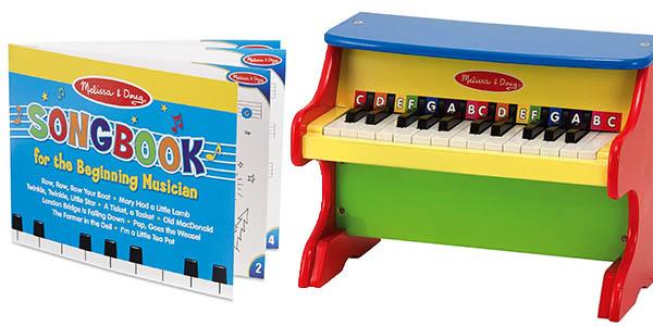 piano de juguete para aprender a tocar con teclas grandes chollo