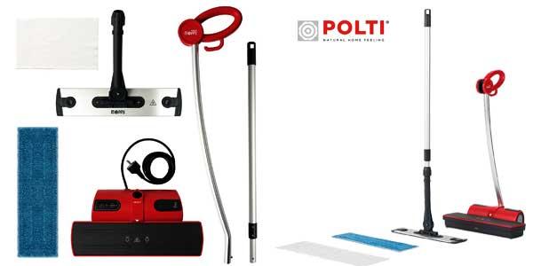 Limpiador de suelos a vapor Polti Moppy sin cables en color rojo chollo en Amazon