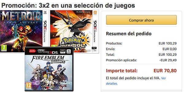 Juegos Nintendo 3DS baratos
