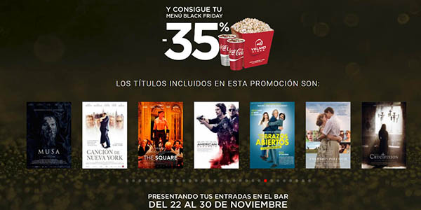 promoción Yelmo cines Black Friday