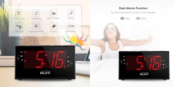 d9b6e0a8abe6 Chollazo Radio reloj digital INLIFE con gran pantalla LCD por sólo ...