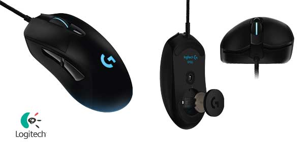 Ratón óptico para gaming Logitech G403 Prodigy de 12.000 DPI chollo en Amazon