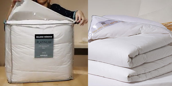 Chollo relleno n rdico sancarlos platinum para cama de 150 Relleno nordico cama 180
