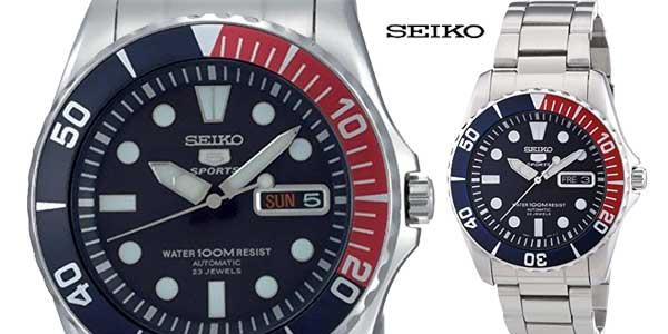 292fc43c52d4 Reloj Seiko SNZF15K1 automático con correa de acero inoxidable para hombre  chollo en Amazon