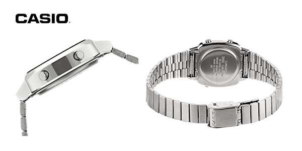 Reloj digital Casio Collection LA670WEA para mujer con correa de acero inoxidable chollazo en Amazon