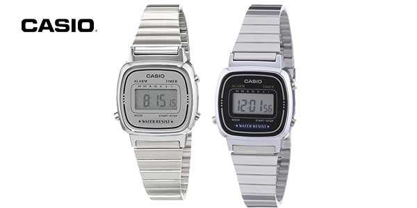Reloj digital Casio Collection LA670WEA para mujer con correa de acero inoxidable chollo en Amazon