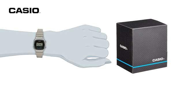 Reloj digital Casio Collection LA670WEA para mujer con correa de acero inoxidable barato en Amazon