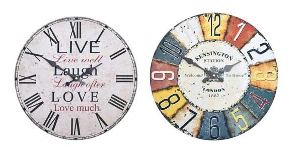 Chollo relojes de pared retro home sweet home con esfera - Mecanismo reloj pared barato ...
