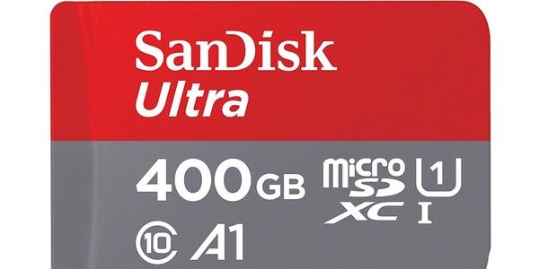 Tarjeta microSDXC SanDisk Ultra de 400 GB A1