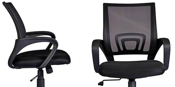 silla de oficina reclinable con ruedas para posición corporal correcta