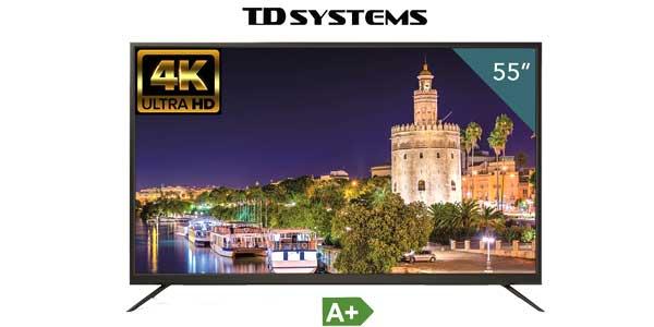 "Televisor LED TD Systems K55DLM7U UHD 4K de 55"" chollo en Amazon"