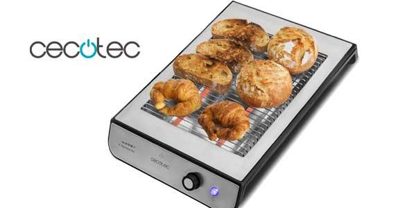 Tostador plano horizontal Cecotec Easy Toast Inox de 600 W chollo en Amazon