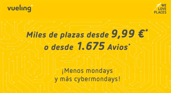 Vueling cyber Monday 2018