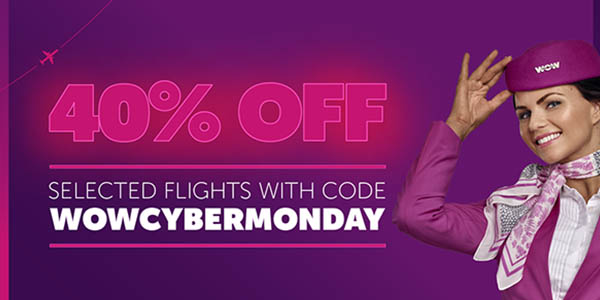 Wow Air Cyber monday 2018