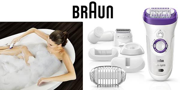 Braun Silk-épil 9 9-579 depiladora eléctrica accesorios y cepillo facial oferta