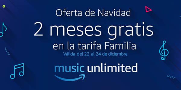2 meses gratis en la tarifa Familia de Amazon Music Unlimited con Amazon Prime