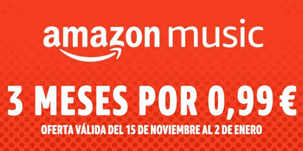 Promoción 3 meses de Amazon Music Unlimited