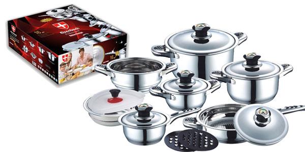 Batería de cocina Eisenbach de 16 piezas barata en eBay España