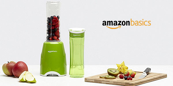 Batidora de vaso AmazonBasics Mix & Go de 300 W barata