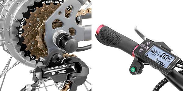 bicicleta eléctrica Fitfiu cambio Shimano gran relación calidad-precio