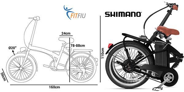 Bicicleta eléctrica plegable Fitfiu BIE0002B Compact de 36v y 250w rebajada