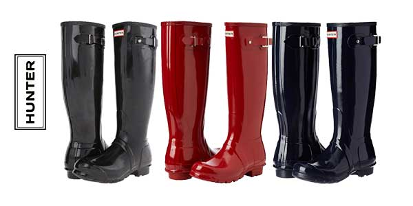 super popular 2f344 03327 Chollazo Botas Hunters Original Tall Gloss para mujer por ...