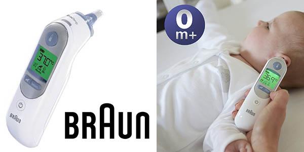 Braun ThermoScan termómetro auricular infantil precisión oferta flash Amazon