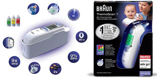 Braun ThermoScan 7 termómetro oído bebés preciso