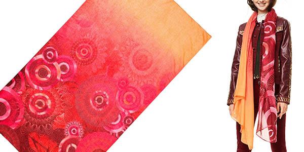 bufanda fular colorida para mujer Desigual Enrien
