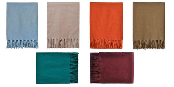Bufanda de lana unisex de varios colores barata