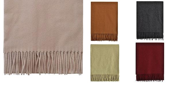 Bufanda Toutacoo de lana francesa en varios colores rebajada