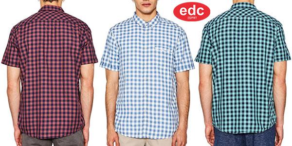 Camisa EDC by Esprit de cuadros y estilo casual rebajada