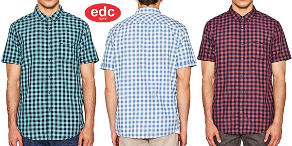 Camisa EDC by Esprit de manga corta para hombre barata