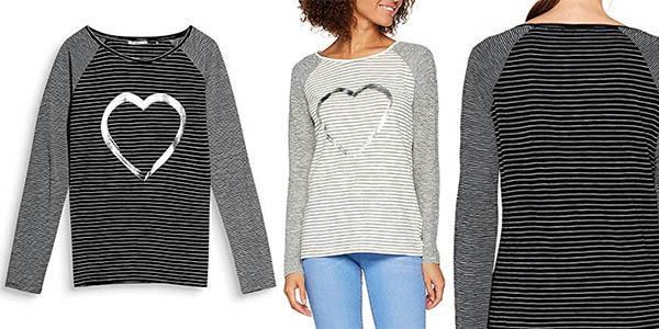 camiseta casual EDC by Esprit algodón estampado a rayas barata