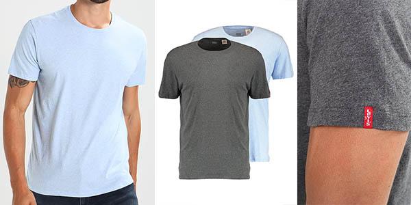 camisetas manga corta en algodón Levi's Slim Crew precio brutal