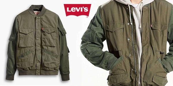 Chaqueta bomber Levi's con capucha para hombre rebajada