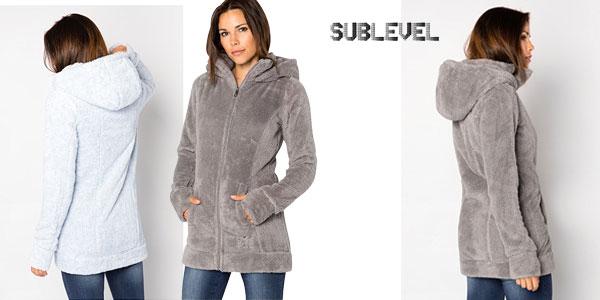 Chaqueta Sublevel teddy de tejido polar con capucha para mujer chollazo en Amazon
