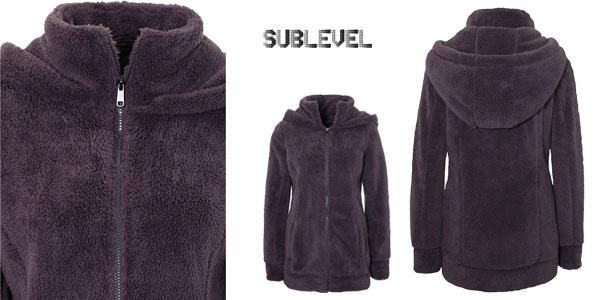 Chaqueta Sublevel teddy de tejido polar con capucha para mujer chollo en Amazon